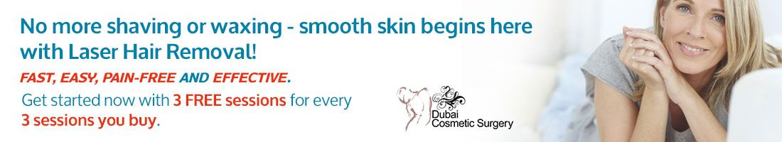 Laser Hair removal – 3 Free Sessions for 3 sessions you Buy