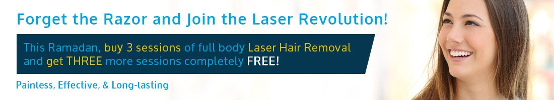 Laser Hair Removal – Buy 3 Sessions & Get 3 Sessions Free