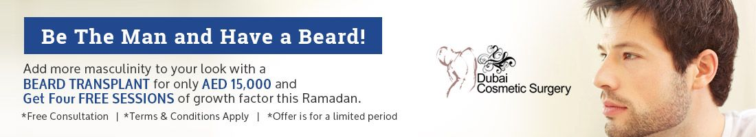 Beard Hair Transplant For Only AED 15,000