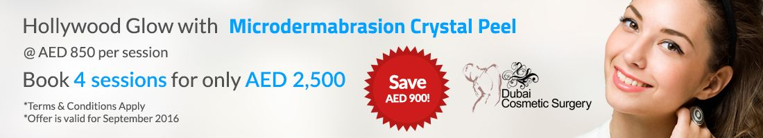 SAVE AED 900 on Microdermabrasion Crystal Peel