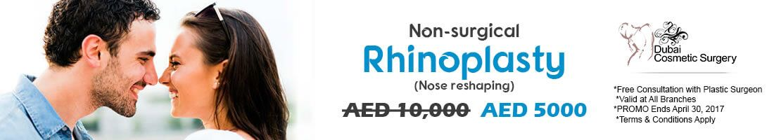 Get Non Surgical Rhinoplasty at AED 5000