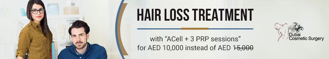 Acell + PRP (3 Sessions) for Hair Loss for AED 10,000