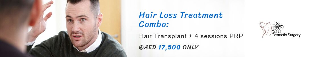 Hair loss treatment and PRP Sessions for AED 17500