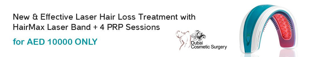 Get Laser Hair Loss Treatment + 4 PRP Sessions for AED 10000