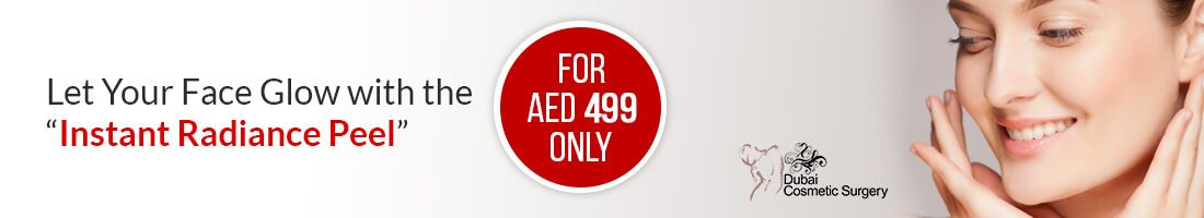 "Offering ""Instant Radiance Peel"" for AED 499 ONLY"