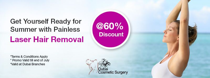 Get Yourself Ready for summer with Painless Laser Hair Removal at 60% discount
