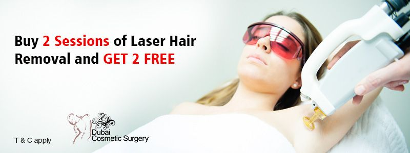 Buy 2 Sessions of Laser Hair Removal and GET 2 FREE