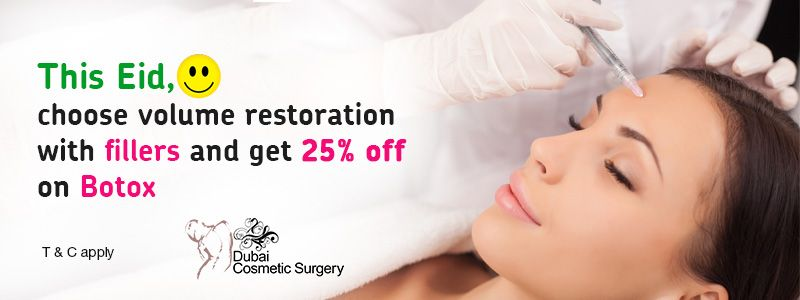 This Eid, choose volume restoration with fillers and get 25% off on Botox