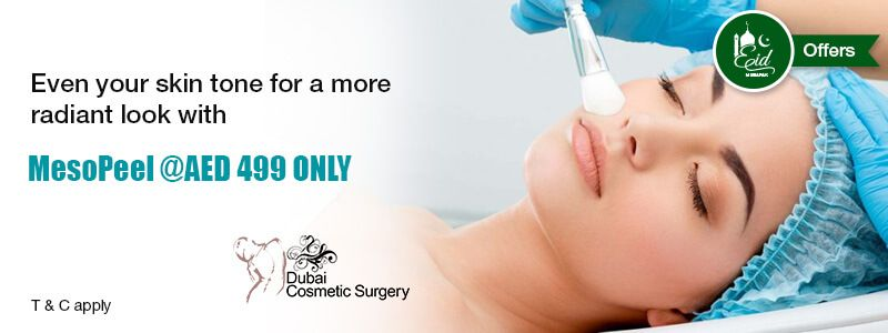Even your skin tone for a more radiant look with MesoPeel @AED 499 ONLY