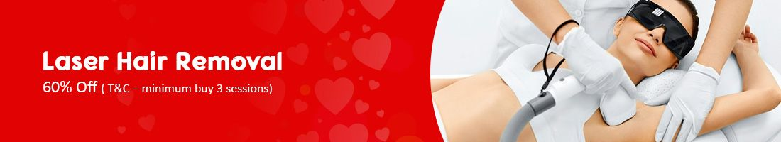 Laser hair removal- 60% Off