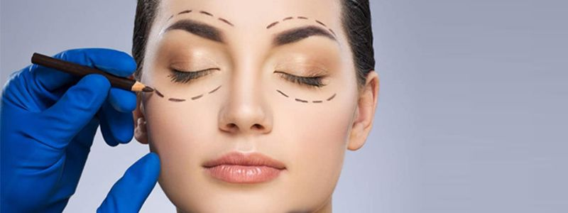 Blepharoplasty for sagging eyelids